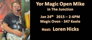 Hosting Yor Magic Open Mic at The Magic Oven on Keele in #JUnctionTO